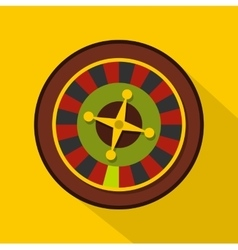 Casino gambling roulette icon flat style vector