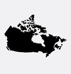 canada island map silhouette vector image