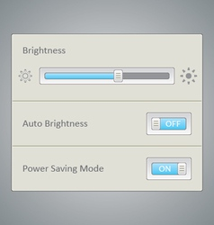 Screen brightness ui vector