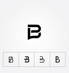 letter b various great big logo typograpy initial vector image