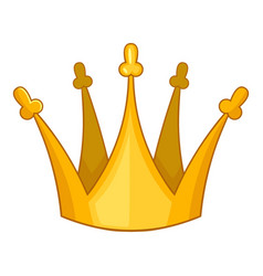 Son of king crown icon cartoon style vector