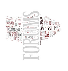 Forums should you have them on your website text vector
