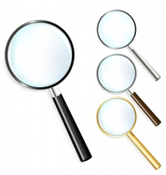 Set of magnifiers vector