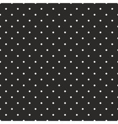 Tile pattern white polka dots on black background vector image