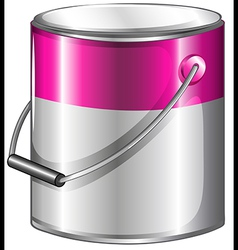 A can of pink paint vector