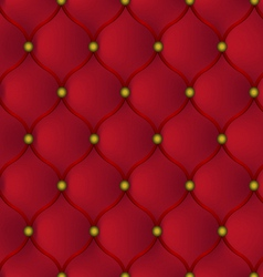 Red leather furniture vector