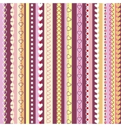 Decorative seamless pattern with vertical stripes vector