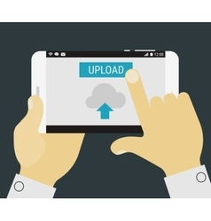 Mobile uploading app vector