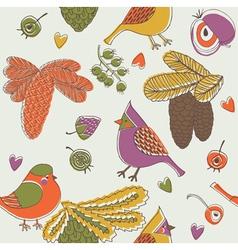 birdies print vector image