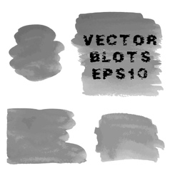 Set of grunge shades of grey watercolor hand vector