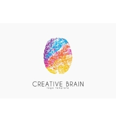 Brain logo color brain logo design creative vector