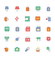 Electronics colored icons 9 vector