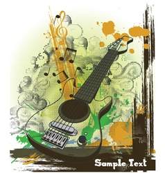 Concert poster with guitar vector