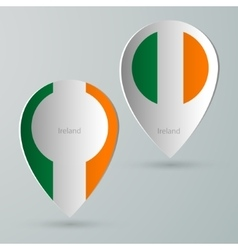 Paper of map marker for maps ireland vector