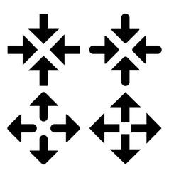 Arrow box symbols vector