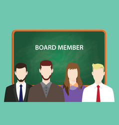 board member white text with four vector image