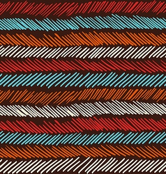 Boho seamless pattern striped vintage background vector image vector image