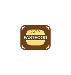 Burger fast food logo vector
