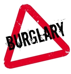 Burglary rubber stamp vector image