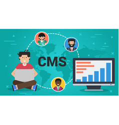 Business banner - content management system vector