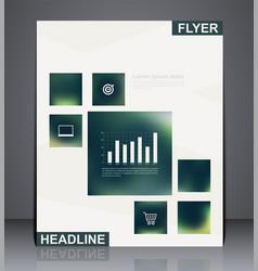 Business brochure flyer design vector