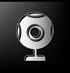 Chat web camera sign gray 3d printed icon vector