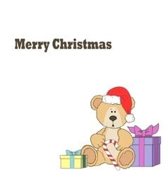 Christmas Teddy bear vector image