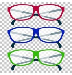 Classic Glasses Icon vector image