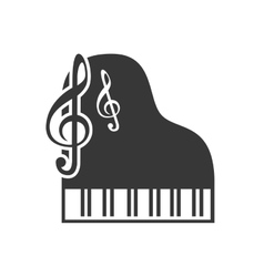 Classic musical piano vector