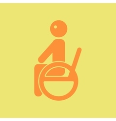 disabled sitting on wheelchair vector image vector image