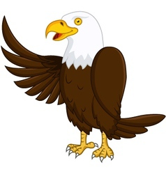 eagle cartoon vector image