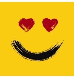 Emoticon in love painted vector