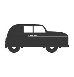 England classic car vehicle isolated icon vector
