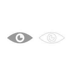 eye the grey set icon vector image vector image