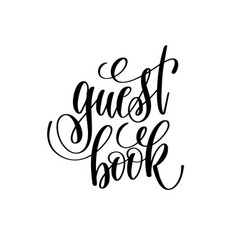 guest book hand lettering romantic quote vector image vector image