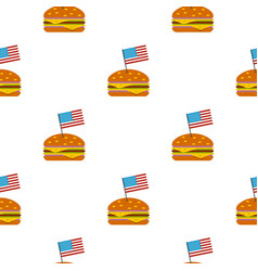 Hamburger pattern seamless vector