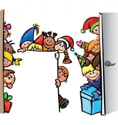 happy children vector image vector image