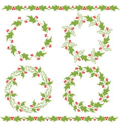 Holly ornaments vector
