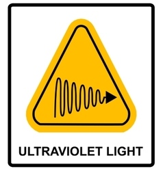 Intensity Ultraviolet Light Protect Your Eyes and vector image
