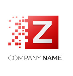 Letter z logo symbol in the colorful square with vector