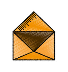 Message email envelope sketch vector