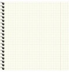 Notebook paper texture vector image vector image