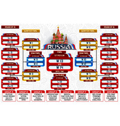 Russia world cup groups schedule vector