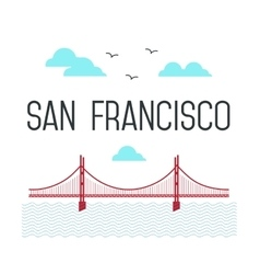 San Francisco Golden Gate Bridge San Francisco vector image vector image