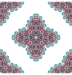Seamless abstract arabic art background damask vector