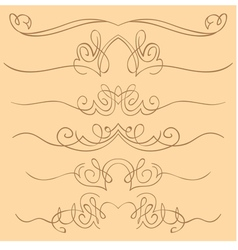 set of borders Hand drawing vector image vector image