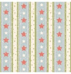 Vintage Stars Pattern vector image vector image