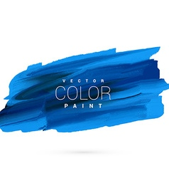 Blue hand paint stain design vector