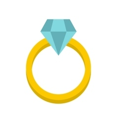 Womens wedding ring icon flat style vector
