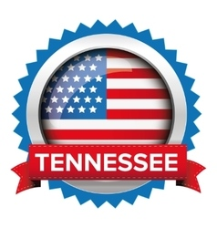 Tennessee and usa flag badge vector